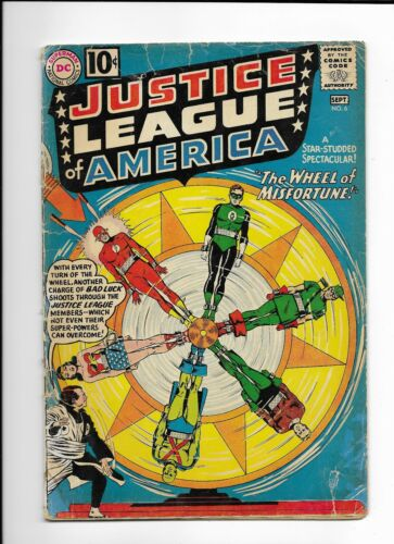 Justice League of America #6 Silver Age Sept 1961 1st Amos Fortune