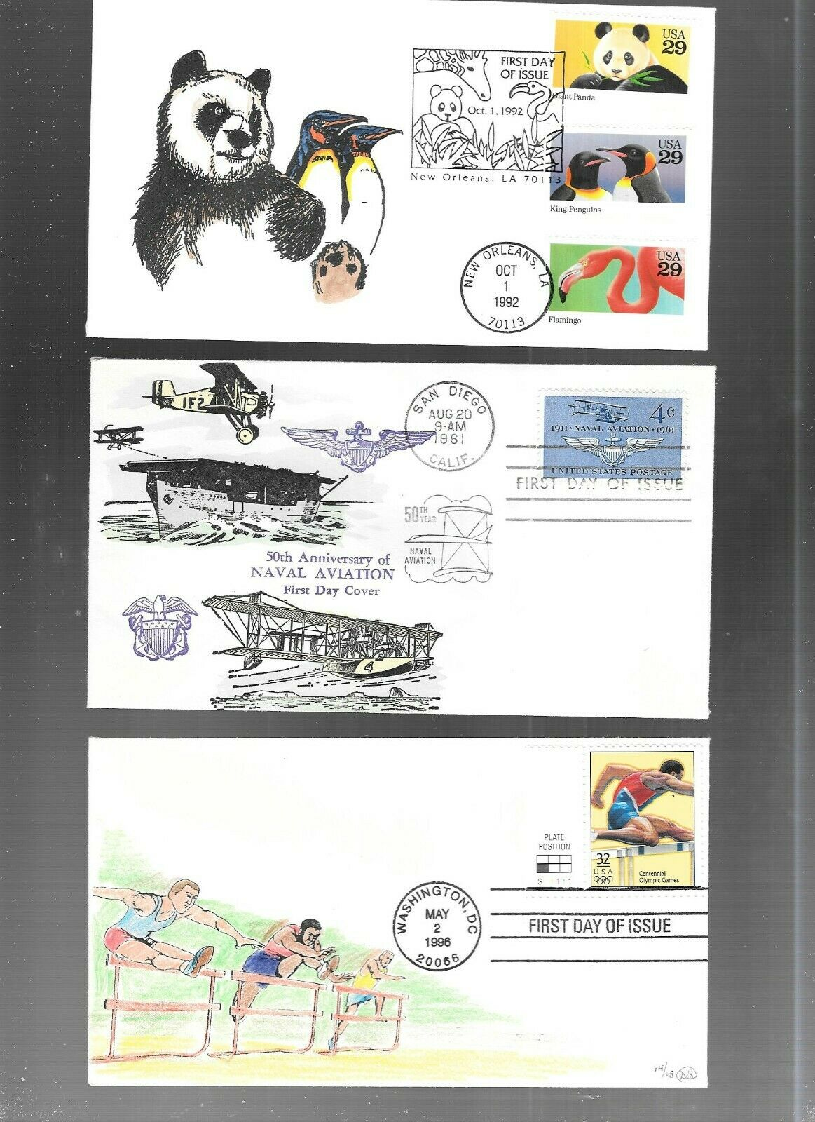US FDC FIRST DAY COVERS COLLECTION HAND PAINTED OR COLORED LOT OF 12 - $12.50