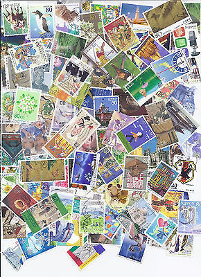 Japan Collection Packet of 100+ Used Commemoratives + 20 FREE Definitives