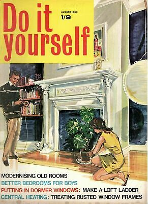 1968 AUGUST 37843 Do it yourself Magazine  BETTER BEDROOMS FOR