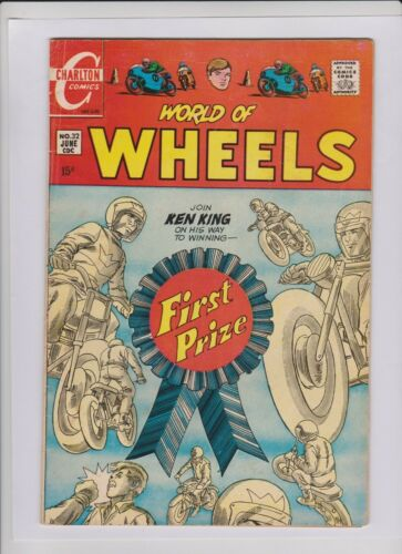 WORLD OF WHEELS #32 F/VF, Charlton 1970, great cover & Jack Keller art, low cost