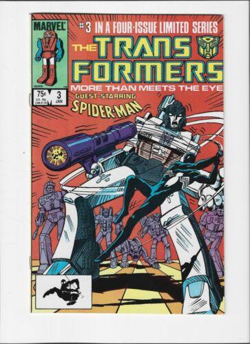 Transformers #3 (Jan. 1985, Marvel) NM (9.4)  Guest-Starring Spider-Man !!!!!!!!