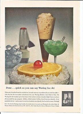 Vintage 1958 Waring Ice Jet Crusher Blender Original Magazine Print Ad for sale  Tomball