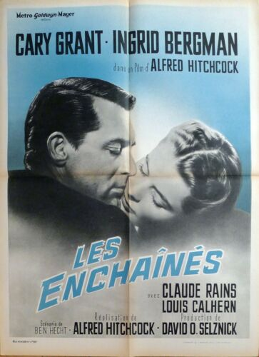 NOTORIOUS - HITCHCOCK / GRANT / BERGMAN - REISSUE MEDIUM FRENCH MOVIE POSTER