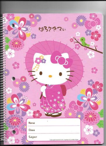 Sanrio Hello Kitty Spiral Notebook Kimono Sakura Cherry Blossom Full Size