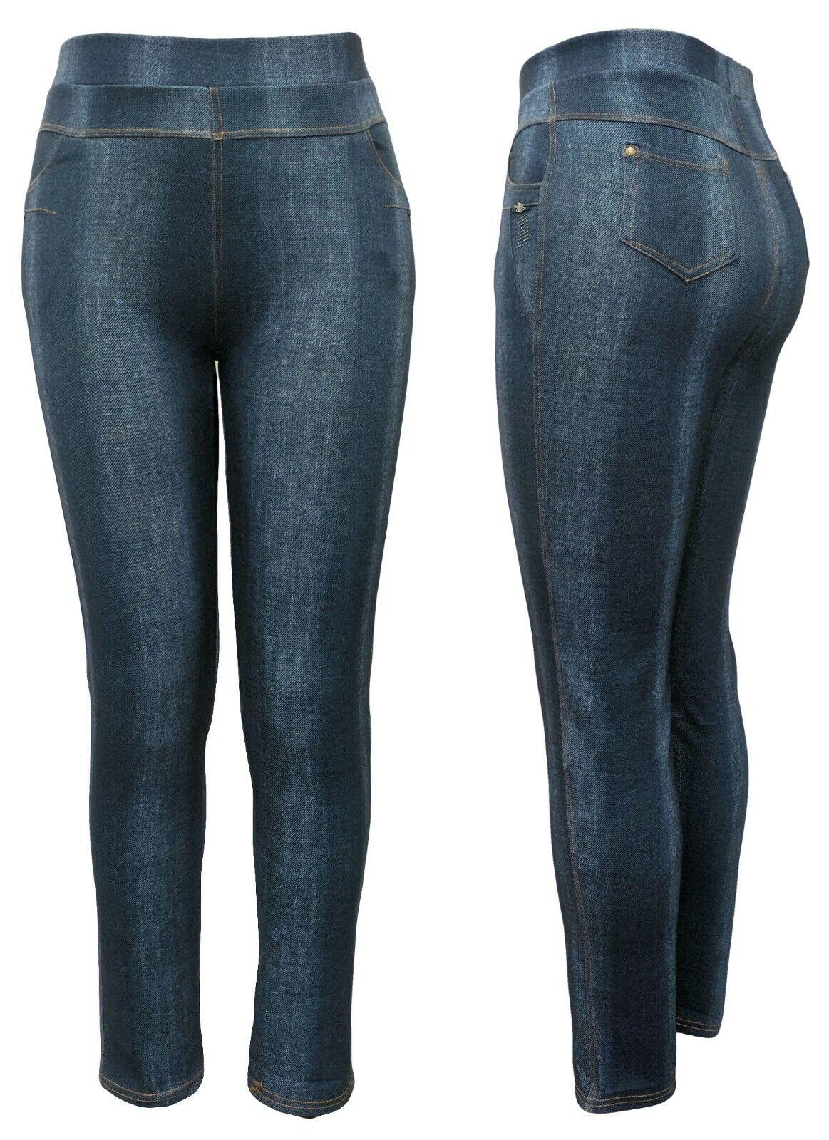 Details zu Stretchjeans Damen Hosen DENIM Gummizug 97% Baumwolle Jeans 4 Farben Gr. 38 54