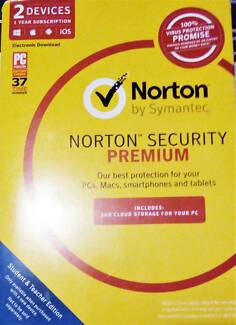 Norton Security PREMIUM - 2 devices 12mth AS NEW (RRP 49.95)