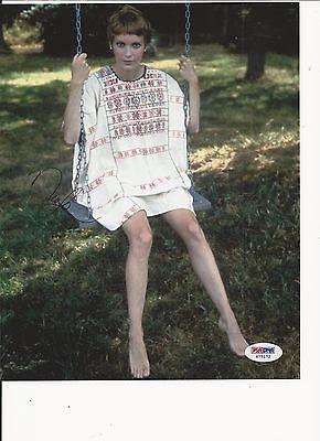 Mia Farrow American Film Legend Signed Color 8X10 W  Psa Coa X75172