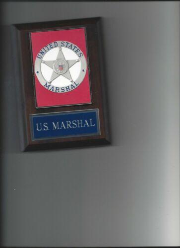 US MARSHAL PLAQUE LAW ENFORCEMENT PHOTO PLAQUE