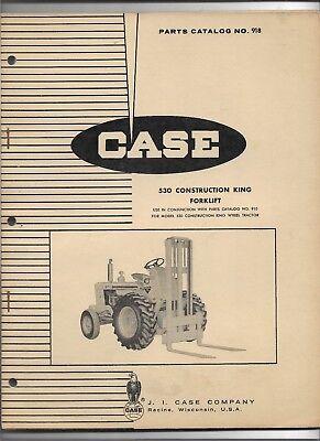 Original Case 530 Construction King Forklift Parts Catalog 918 Dated March 1964