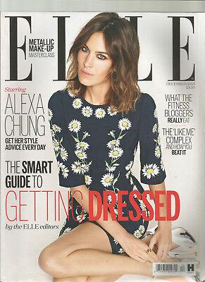ELLE MAGAZINE DECEMBER 2015 STARRING ALEXA CHUNG