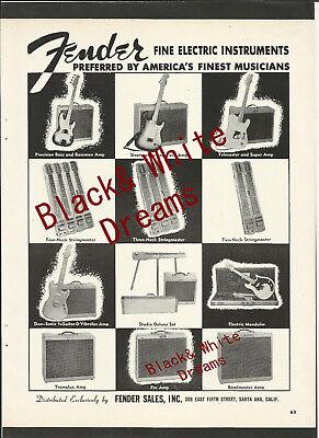 FENDER GUITARS STRATOCASTER, TELE & P. BASS Original Vintage One of a Kind AD