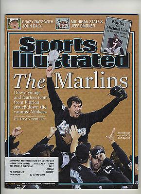 Nov 3 2003  Josh Beckett  Marlins WS Champs  Sports Illustrated