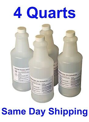 1 GALLON ISOPROPYL ALCOHOL 99% PACKED IN 4 QUARTS *99.9% PURE* 25% OFF with 2