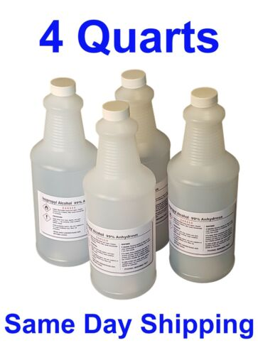 99% Isopropyl Alcohol  *4 quart bottles* FREE SAME DAY SHIPPING