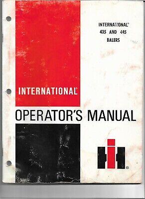 Ih International Harvester 435 445 Baler Operator Manual 1976 Original