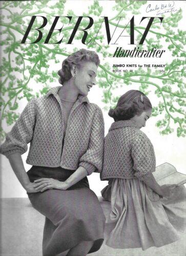 Lot of 5 - Vintage 1950s Bernat Knitting Books