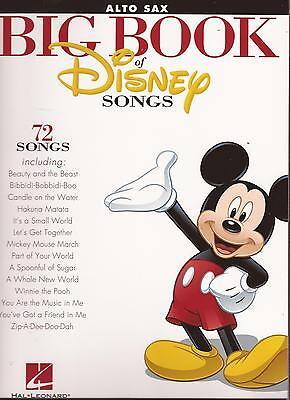 Alt Saxophon Noten - THE  BIG BOOK OF DISNEY SONGS - 72 Songs