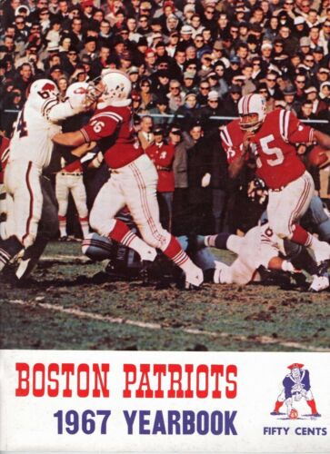 1967 Boston Patriots Yearbook  Jim Nance Cover AFL  Ex -Mt SEE More In My STORE
