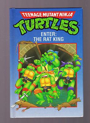 1990 ENTER: THE RAT KING BOOK TEENAGE MUTANT NINJA TURTLES TMNT Vintage HC