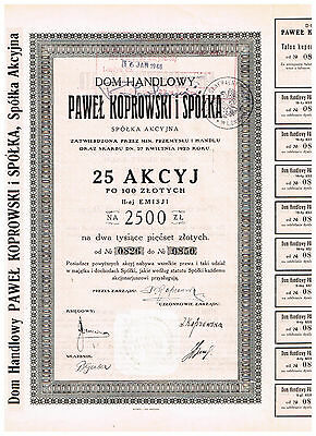 Paul Koprowski & Co. Ltd., 1923, 2500 Zlotys