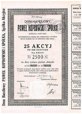 Paul Koprowski & Co. Ltd., 1923, 2500 Zlotys