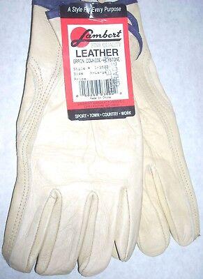 Lambert 208B Ladies Cadets 8oz White Canvas Gloves USA Made