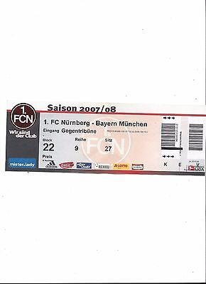 1.FC NÜRNBERG - BAYERN MÜNCHEN, 29.03.2008, Sammler Ticket, 1. Bundesliga 07/08 gebraucht kaufen  Nürnberg