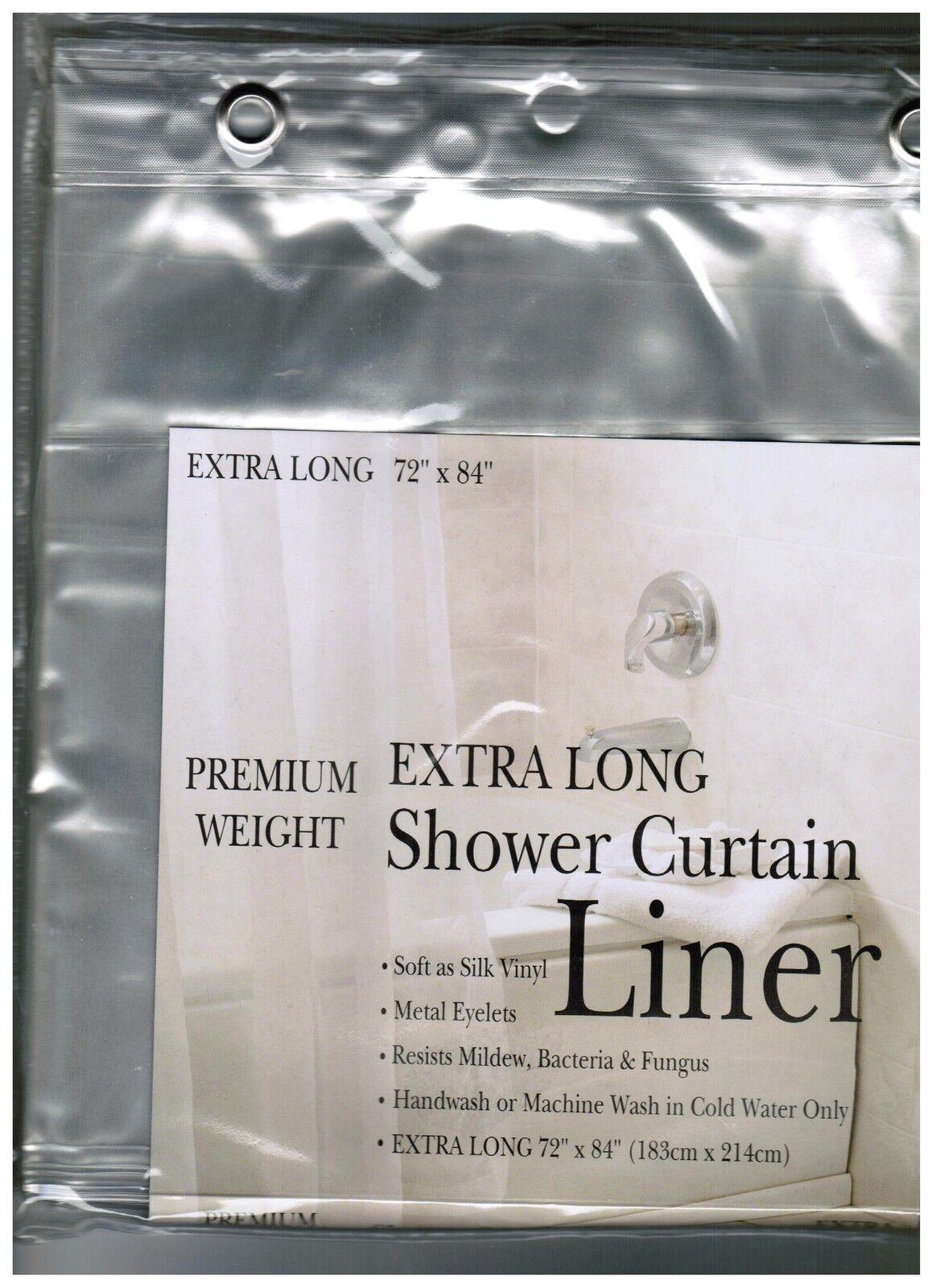 Vinyl Shower Curtain, Super Clear
