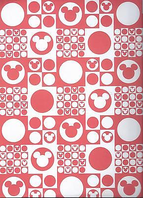 Disney MICKEY RED CHECKERS 12 x 12 Paper - 2 Sheets](Red Paper)