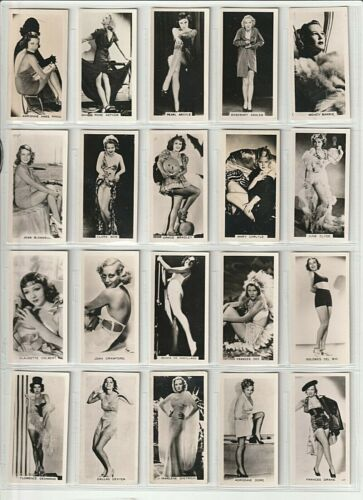 54 CARRERA Sexy Pinup / FILM STARS 2nd Series 1939 FULL VG+ SET Cigarette Cards