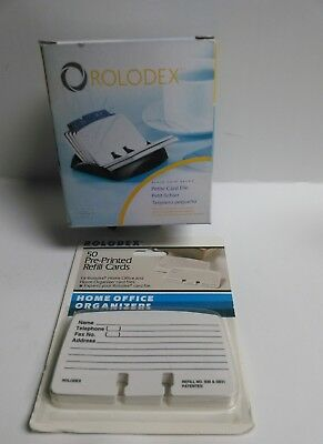 Genuine Rolodex Petit Card File With Cards A-z Tab Dividers 2 14 In X 4