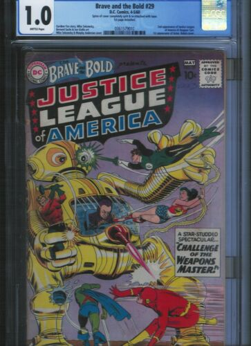 Brave and the Bold # 29 CGC 1.0 Brittle Pages. UnRestored.