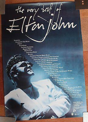 The Very Best of Elton John 1990 original promo poster