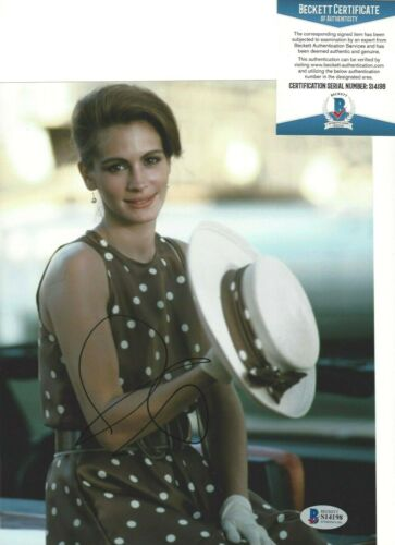 SEXY ACTRESS JULIA ROBERTS SIGNED PRETTY WOMAN 8x10 MOVIE PHOTO BECKETT BAS COA