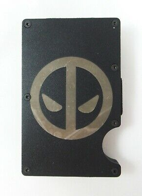 Deadpool Wallet Engraved RFID Blocking Thin Organizer w/Money Clip