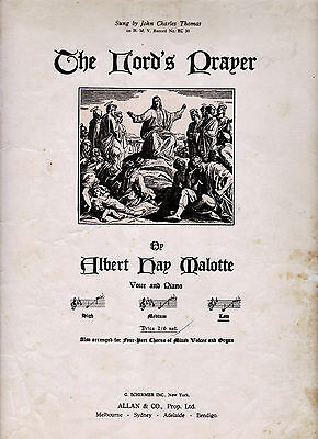 The Lord/'s Prayer Sheet Music Piano Vocal Sister Janet Mead NEW 000352289