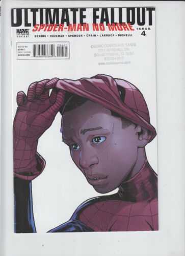 MILES MORALES FIRST SPIDER-MAN APPEARANCE ULTIMATE FALLOUT #4  2ND PRINT STAMPED