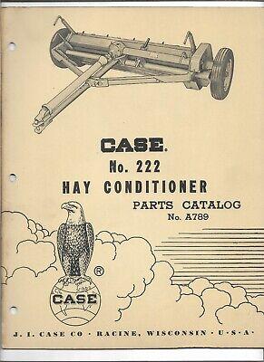 Original 121960 Oem Oe Case No. 222 Hay Conditioner Parts Catalog No. A789