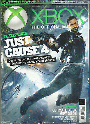 X BOX THE OFFICIAL MAGAZINE, JUST CAUSE 4    CHRISTMAS, 2018  FREE 2019 CALENDAR for sale  Shipping to India