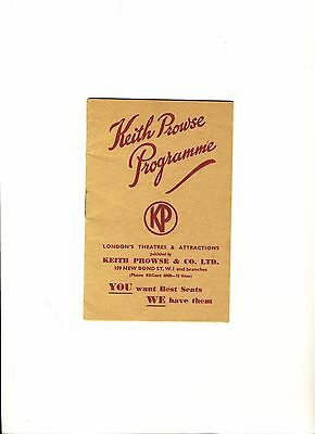 """Keith Prowse Programme""  1938"