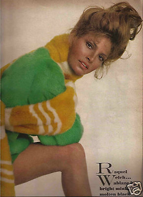 60's Avedon Photographed  6-Page Fashion Editorial - Racquel Welch 1969