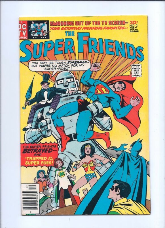 Super Friends 2 VF- 7.5 Bronze Age