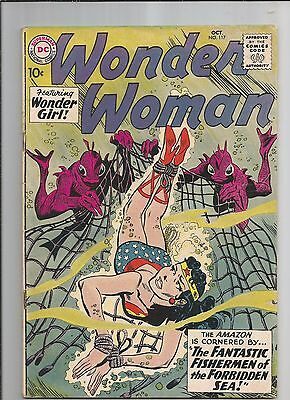 WONDER WOMAN 117 FN  FINE OW/WHITE PAGES DC SILVER AGE COMIC 1960