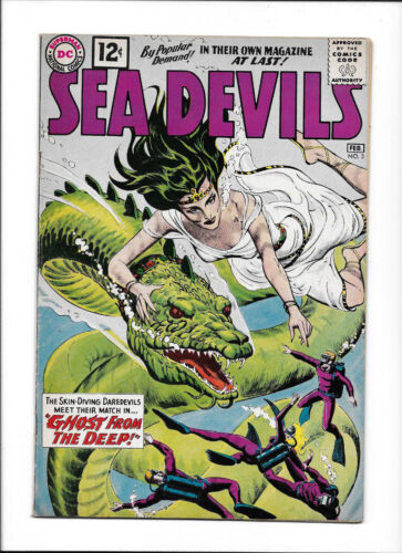 """SEA DEVILS  #3  [1962 FN+]  """"GHOST FROM THE DEEP!"""""""