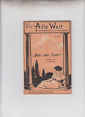 Für Alle Welt Original 1896 Nr. 8 Weichert Verlag Romansammlung des In-Auslandes