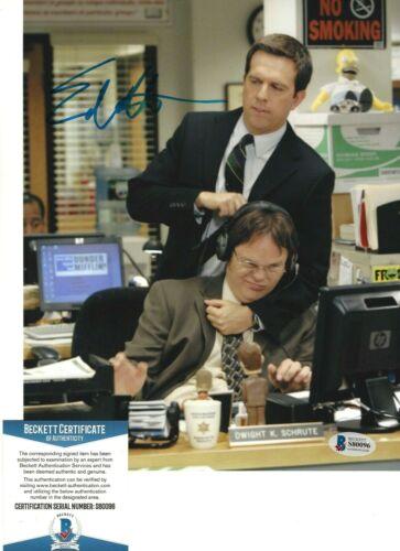 ED HELMS SIGNED 'THE OFFICE' ANDY BERNARD 8x10 PHOTO 5 ACTOR BECKETT COA BAS