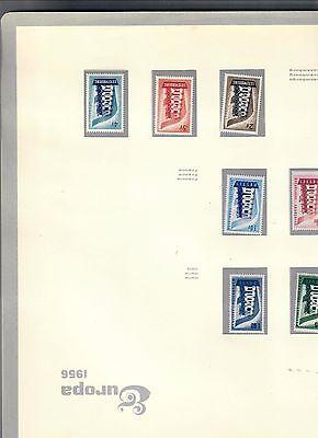 europa cept 1956-1969 francobolli nuovi montati in fogli e raccoglitore dedicato