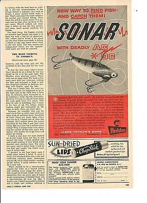 Vintage Original 1959 HEDDON SONAR Lures with Deadly AC/DC Control advertisement