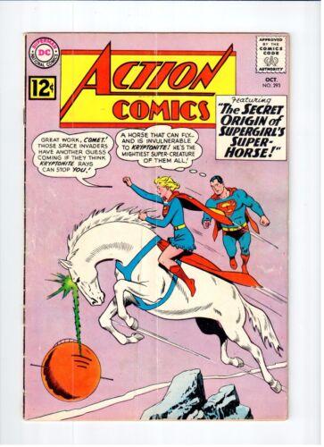 DC ACTION COMICS #293 Superman Supergirl 1962 GD Vintage Comic